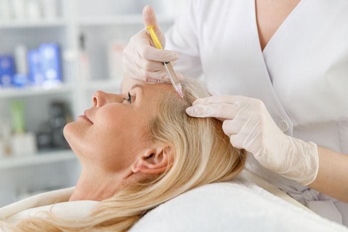 PRP är en mycket bra behandlingsform för personer som har fått tunt hår eller har börjat tappa hå